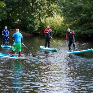 SUP coaching on the Usk...