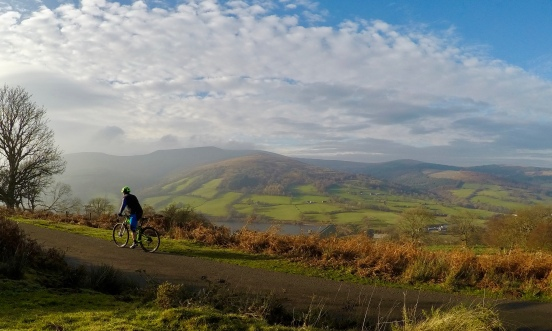 I love biking in the Brecon Beacons...