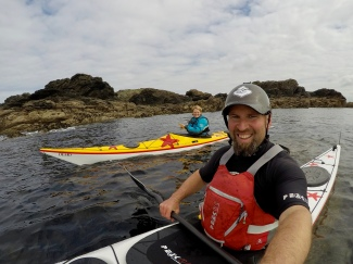 Sea kayaking off Anglesey...