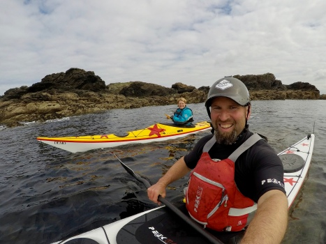 Sea kayaking off Anglesey...