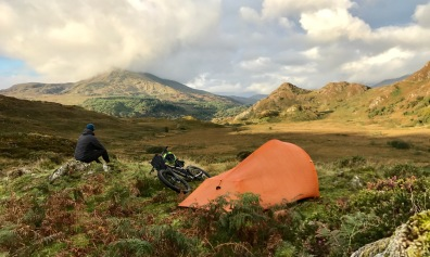 Bikepacking joy in Snowdonia...