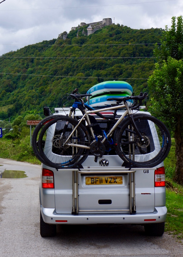 Carrying bikes is generally compatible with loading the roof...