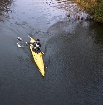 Cruising the flat water...