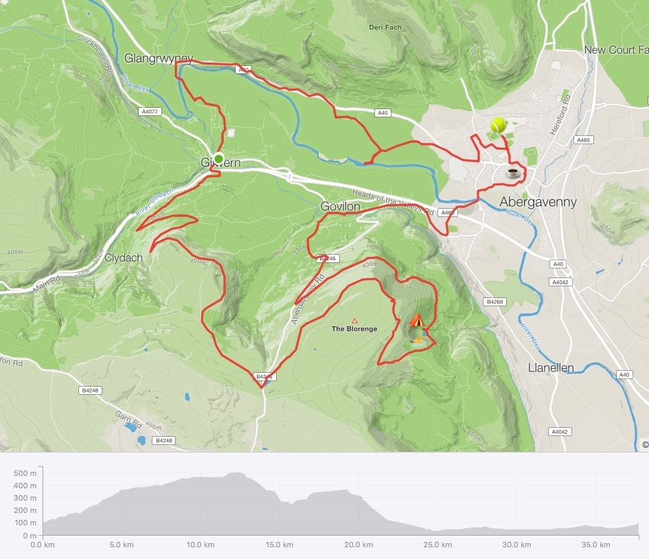 Birthday Bikepacking Route